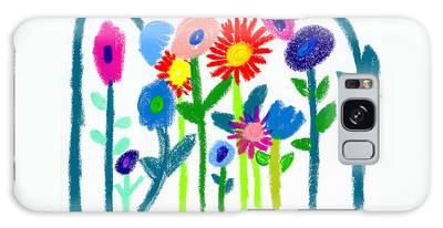 Galaxy Case featuring the pastel Folk Garden by Bee-Bee Deigner