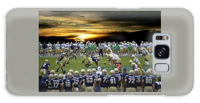 Galaxy Case featuring the photograph Football Field-notre Dame-navy by Ericamaxine Price