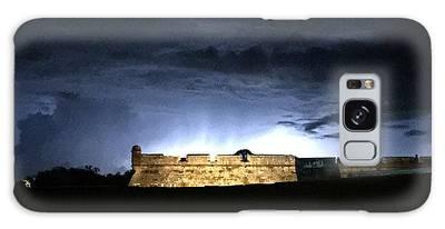Lightening At Castillo De San Marco Galaxy Case