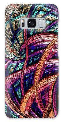 Galaxy Case featuring the digital art Fractal Farrago by Susan Maxwell Schmidt