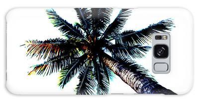 Frazzled Palm Tree Galaxy Case