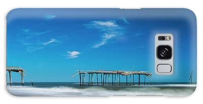 Galaxy Case featuring the photograph Frisco Fishing Pier In North Carolina Panorama by Ranjay Mitra