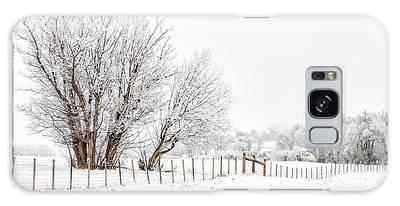 Frosty Winter Scene Galaxy Case