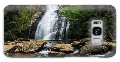Gentle Waterfall North Georgia Mountains Galaxy Case