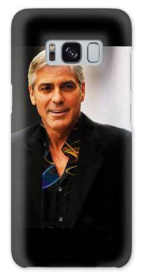 Galaxy Case featuring the photograph George Clooney Painting by Ericamaxine Price