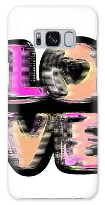 Galaxy Case featuring the digital art Glitch by Bee-Bee Deigner