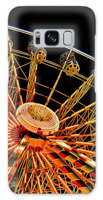 Glowing Ferris Wheel - Fractals Galaxy Case by Ericamaxine Price