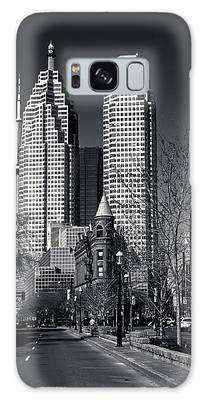 Galaxy Case featuring the photograph Gooderham Flatiron Building And Toronto Downtown by Brian Carson