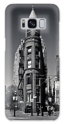 Galaxy Case featuring the photograph Gooderham Flatiron Building Toronto Canada by Brian Carson