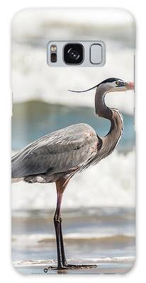Galaxy Case featuring the photograph Great Blue Heron Profile by Patti Deters