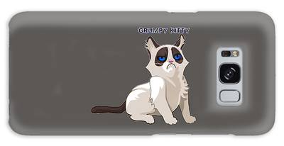 Galaxy Case featuring the digital art Grumpy Cat by Ericamaxine Price