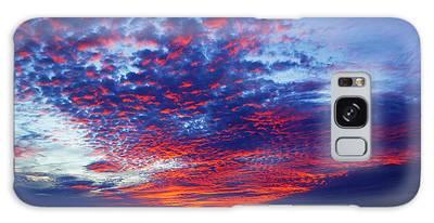 Hand Of God At Sunrise Galaxy Case