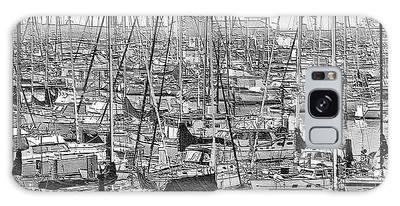 Galaxy Case featuring the digital art Harbor II by Visual Artist Frank Bonilla