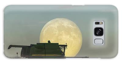 Galaxy Case featuring the photograph Harvest Moon by Brad Allen Fine Art