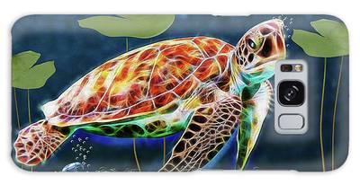 Galaxy Case featuring the digital art Hawksbill Sea Turtle by Ericamaxine Price