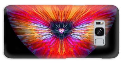 Galaxy Case featuring the digital art Hearts #26 by Visual Artist Frank Bonilla