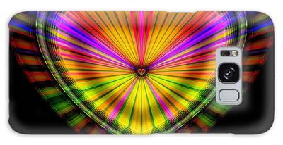 Galaxy Case featuring the digital art Hearts #9 by Visual Artist Frank Bonilla