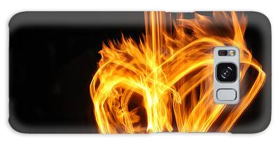 Hearts Aflame -falling In Love Galaxy Case