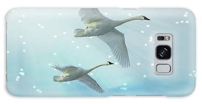 Galaxy Case featuring the photograph Heavenly Swan Flight by Patti Deters