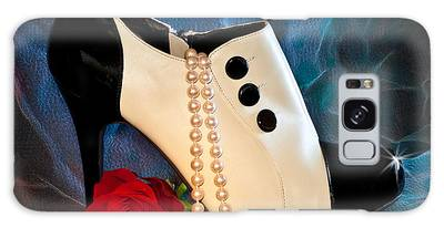 Galaxy Case featuring the photograph High Heel Spat Bootie Shoe by Patti Deters