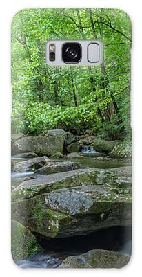 High Shoals Falls Trail In South Mountain Panorama Galaxy Case by Ranjay Mitra