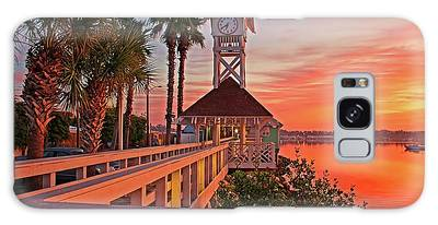 Historic Bridge Street Pier Sunrise Galaxy Case