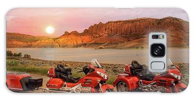 Galaxy Case featuring the photograph Honda Goldwing Bike Trike And Trailer by Patti Deters