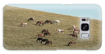 Horses On The Hill Galaxy Case