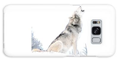 Galaxy Case featuring the photograph Howling Wolf 1 by Ericamaxine Price
