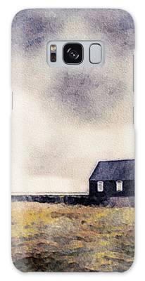 Icelandic Church In Watercolor Galaxy Case by Susan Maxwell Schmidt