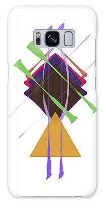 Galaxy Case featuring the digital art Improvised Geometry #3 by Bee-Bee Deigner