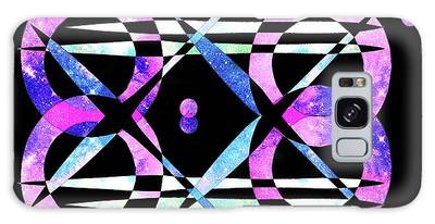 Galaxy Case featuring the digital art I Took A Retrofuturistic Journey In Space In 1920 by Bee-Bee Deigner