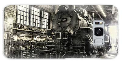 Galaxy Case featuring the photograph In The Roundhouse by Brad Allen Fine Art