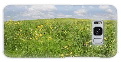 Iowa Summer Flowers I Galaxy Case