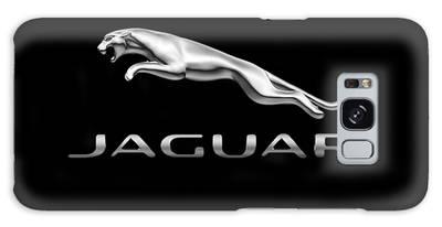 Galaxy Case featuring the photograph Jaguar Logo by Ericamaxine Price