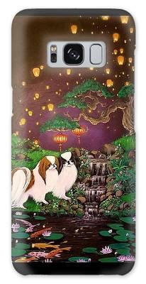 Japanese Spaniel Galaxy Cases