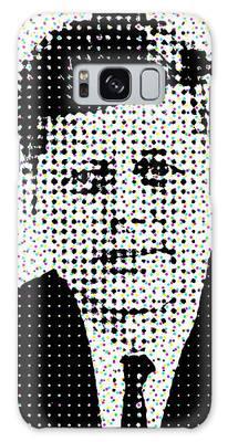 John F Kennedy In Dots Galaxy Case