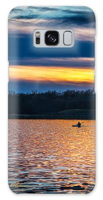Kayak Sunset Galaxy Case