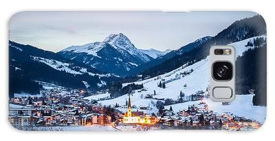 Kirchberg Austria In The Evening Galaxy Case