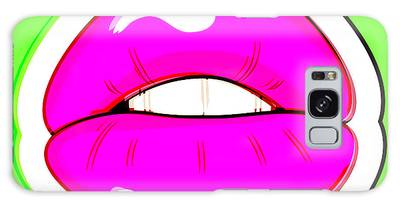 Galaxy Case featuring the digital art Kiss Me by Bee-Bee Deigner