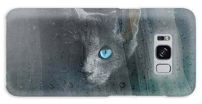 Kitty At The Window Galaxy Case