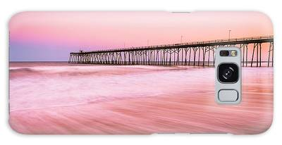 Galaxy Case featuring the photograph Kure Beach Fishing Pier At Sunset by Ranjay Mitra