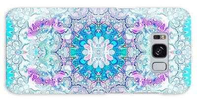 Galaxy Case featuring the digital art Lacy Mandala by Bee-Bee Deigner