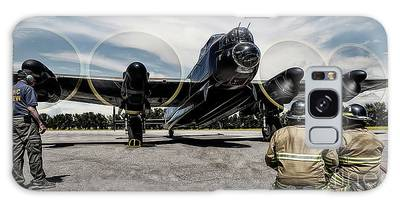 Galaxy Case featuring the photograph Lancaster Engine Test by Brad Allen Fine Art