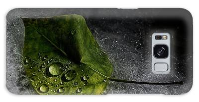 Galaxy Case featuring the photograph Leaf Droplets by Brad Allen Fine Art