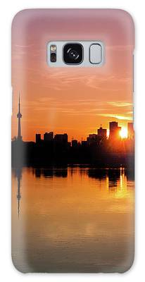 Galaxy Case featuring the photograph Leslie Street Spit Toronto Canada Sunset by Brian Carson