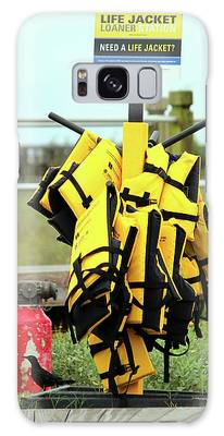 Galaxy Case featuring the photograph Life Jacket Station by Cynthia Guinn