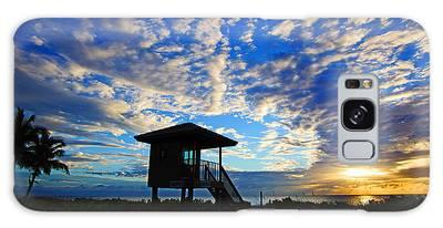 Lifeguard Station Sunrise Galaxy Case