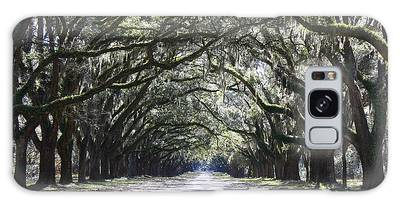 Live Oak Lane In Savannah Galaxy Case