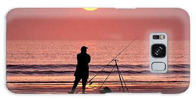 Llangennith Fishing At Sundown Galaxy Case